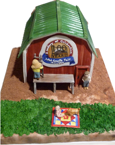 Barn Cake For County Fair