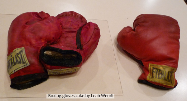 Boxing Gloves Cake (shown With Single Real Glove)