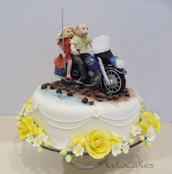 Harley Davidson Wedding Cake 1