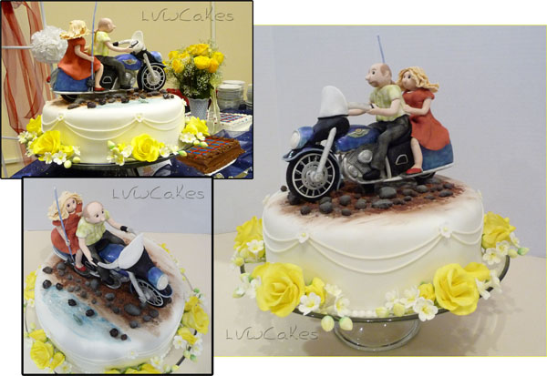 Harley Davidson Wedding Cake 2