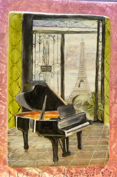 Piano Overlooking Eiffel Tower