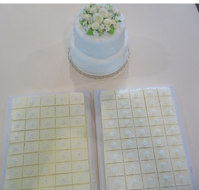 50th Anniversary Cake With Sheet Cakes For Extra Servings
