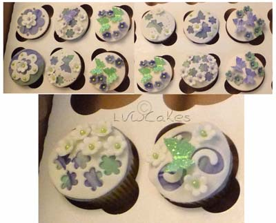 fancy fondant cupcakes $5 each
